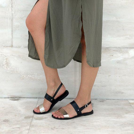 Leather Sandals sandals Women's Greek sandals PLATO