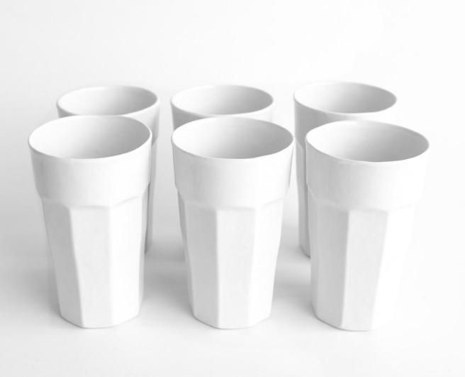 Simple and clean set of 6 tumblers  www.mooreaseal.com