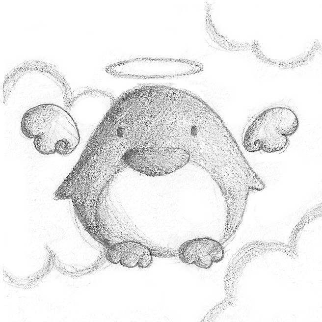 Angel Penguin by B-Keks.deviantart.com on @DeviantArt