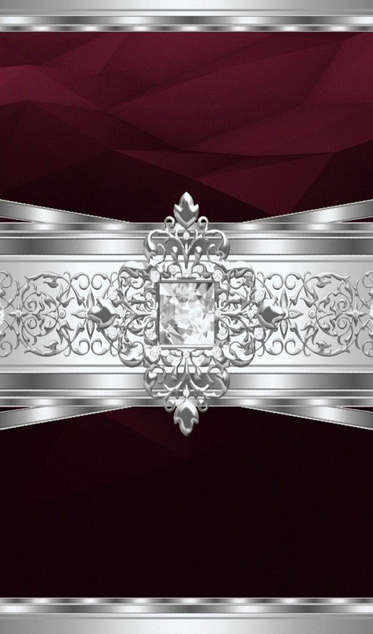 Wine Silver Sparkly Wallpaper By Artist Unknown Bling