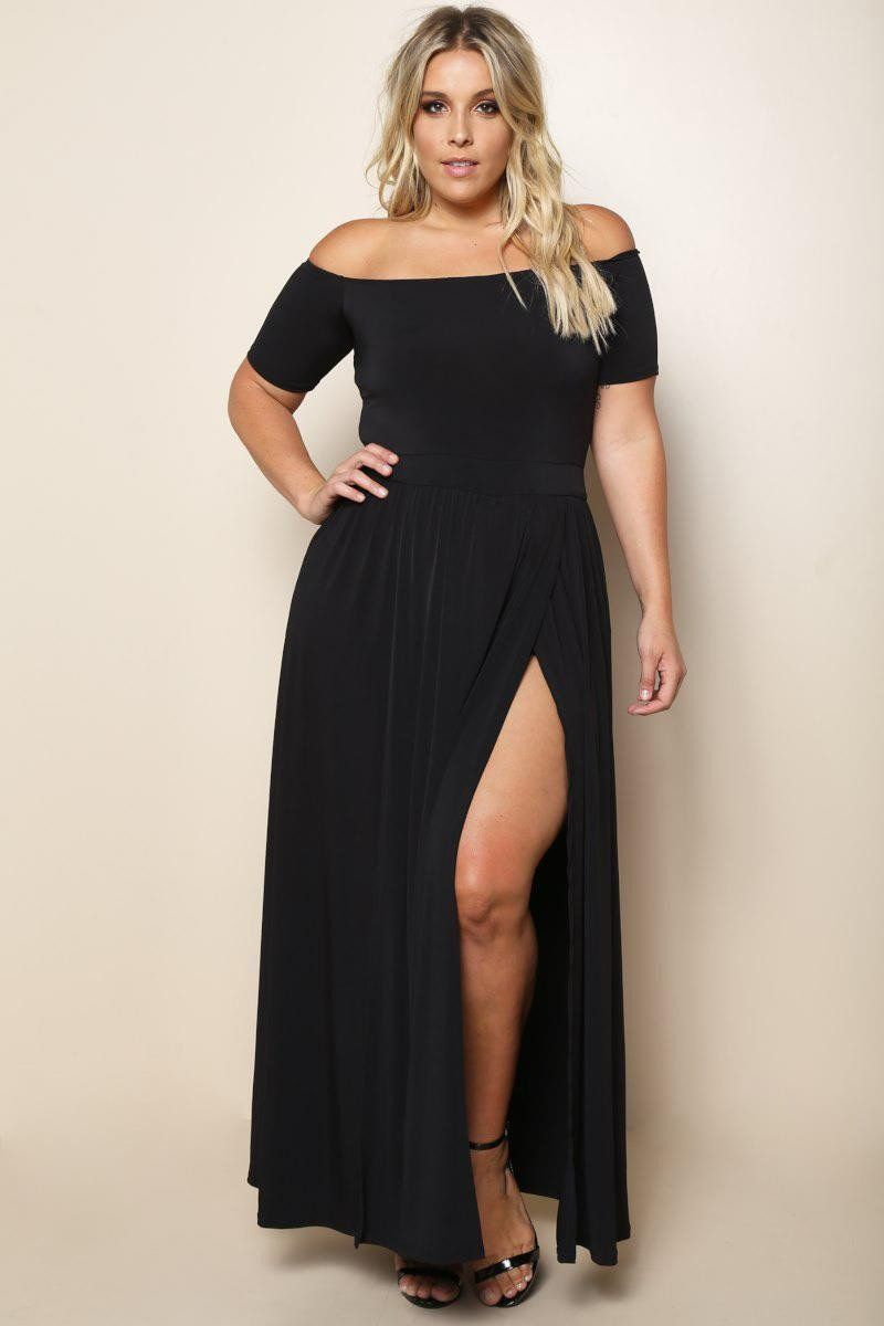 f60a9664231 Elegant Diva Plus Size Maxi Dress - Black