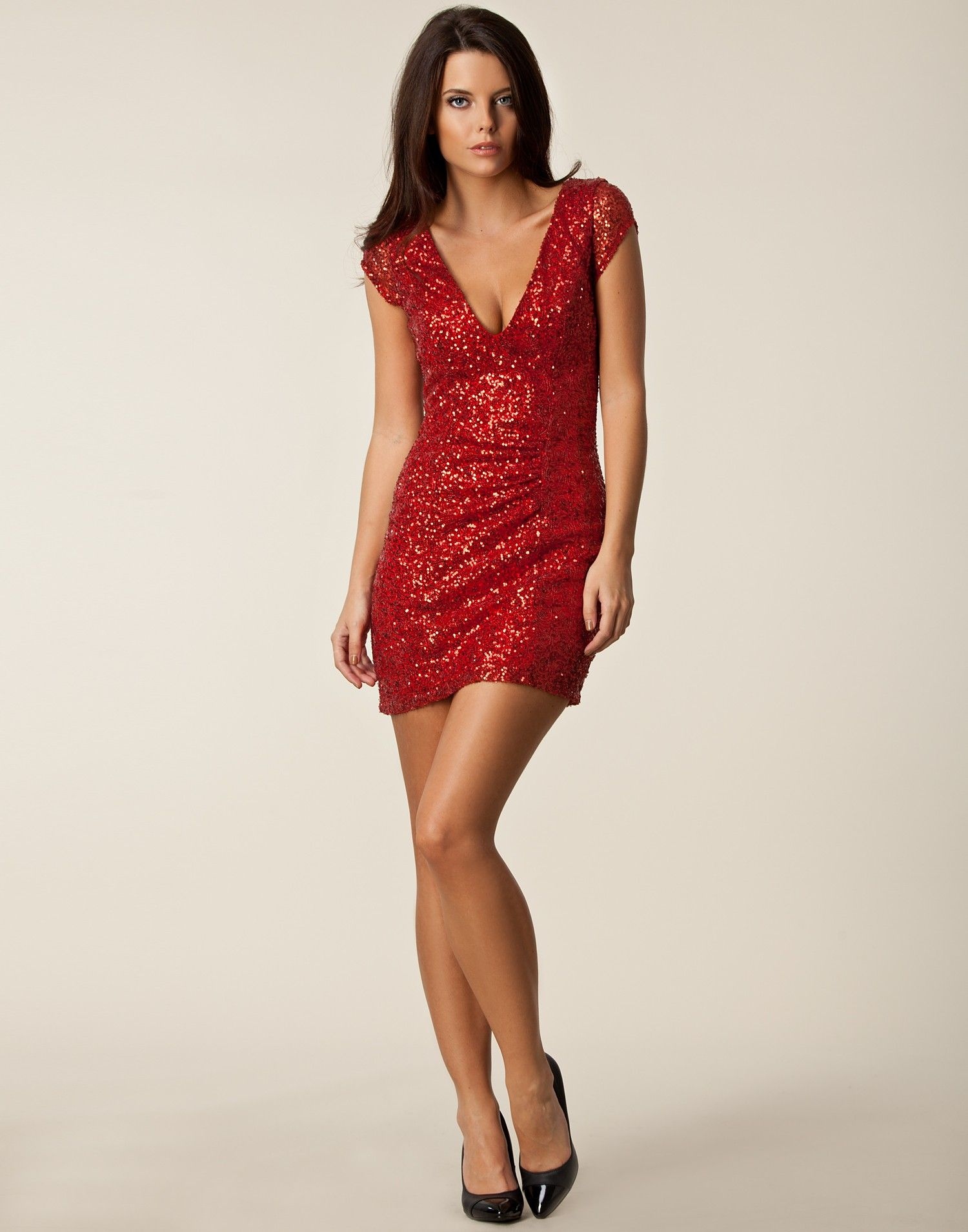 Julie Sequin Dress - Oneness - Red - Party dresses - Clothing ...