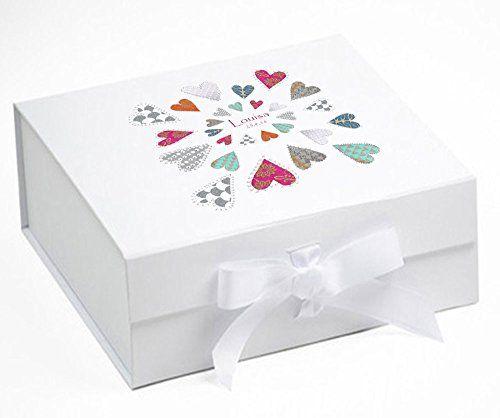 Baby keepsake box memory box love hearts memory box b https baby keepsake box memory box love hearts memory box box baby gift baby shower gifts white amazon kitchen home negle Images