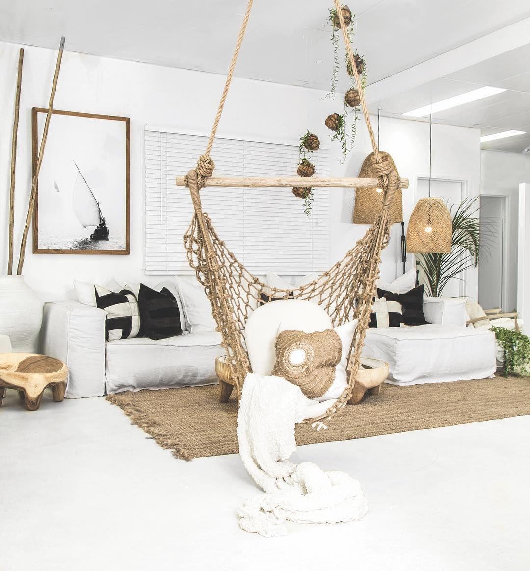 Image may contain indoor hanging chair indoor indoor