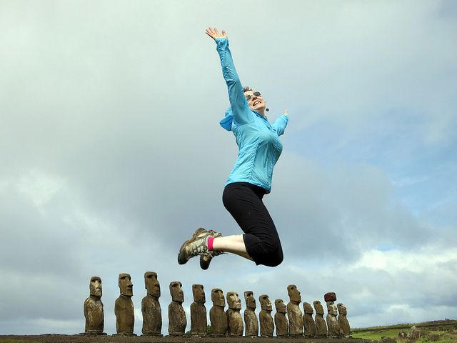 Moai Jumpies (also known as one of my favorite photos of me ever!) | Flickr - Photo Sharing!