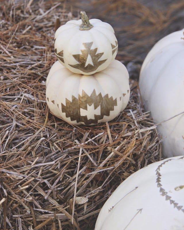 Tribal pumpkin DIY
