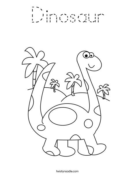 Brontosaurus Coloring Page With Images Dinosaur Coloring Pages