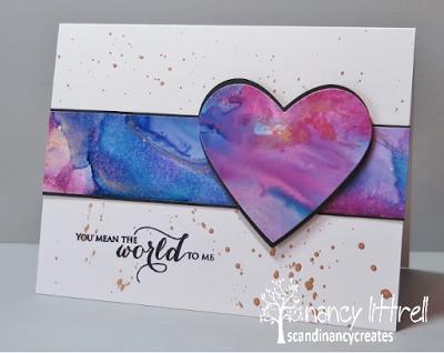 CAS Watercolour Card Challenge: CAS Watercolour February Challenge