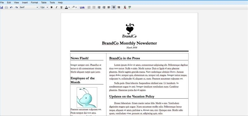 How To Create A Newsletter With Google Docs Creating A