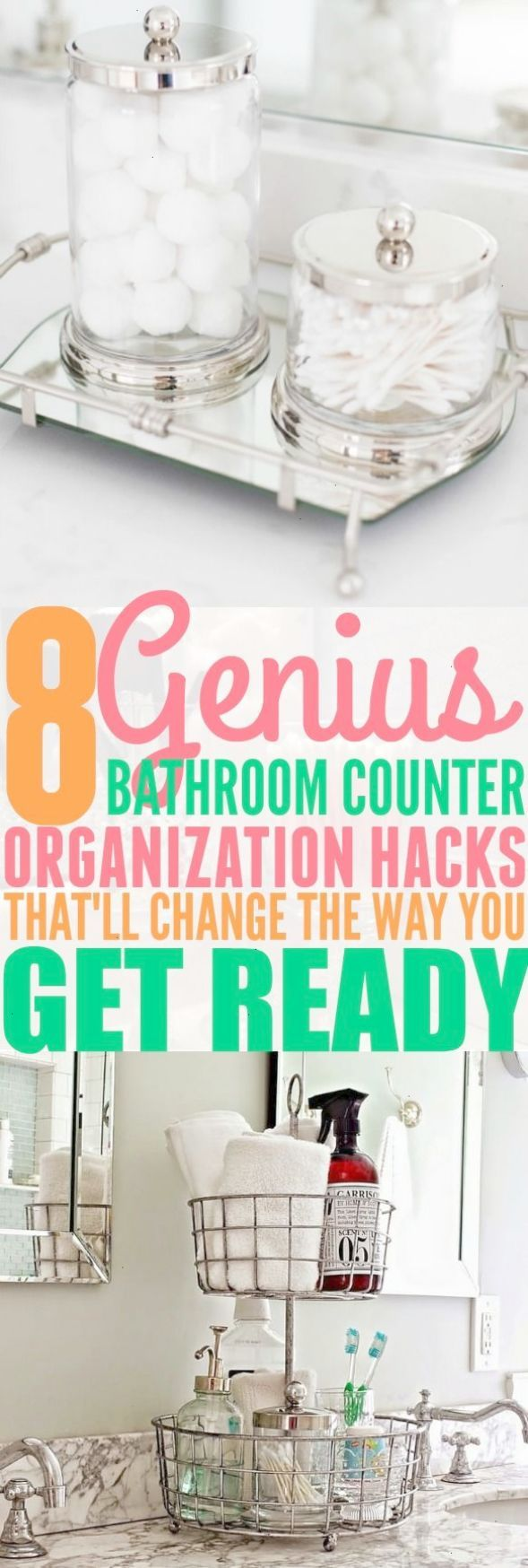 I Absolutely Love These 8 Bathroom Counter Organization Hacks. I Never Have  To Worry About