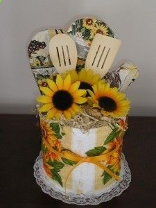 Sunflower Dish Towel Cake Cute Idea I Would Like To Do This
