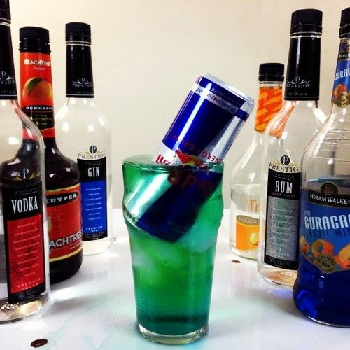 1/2 Oz Gin , 1/2 Oz Light Rum , 1/2 Oz