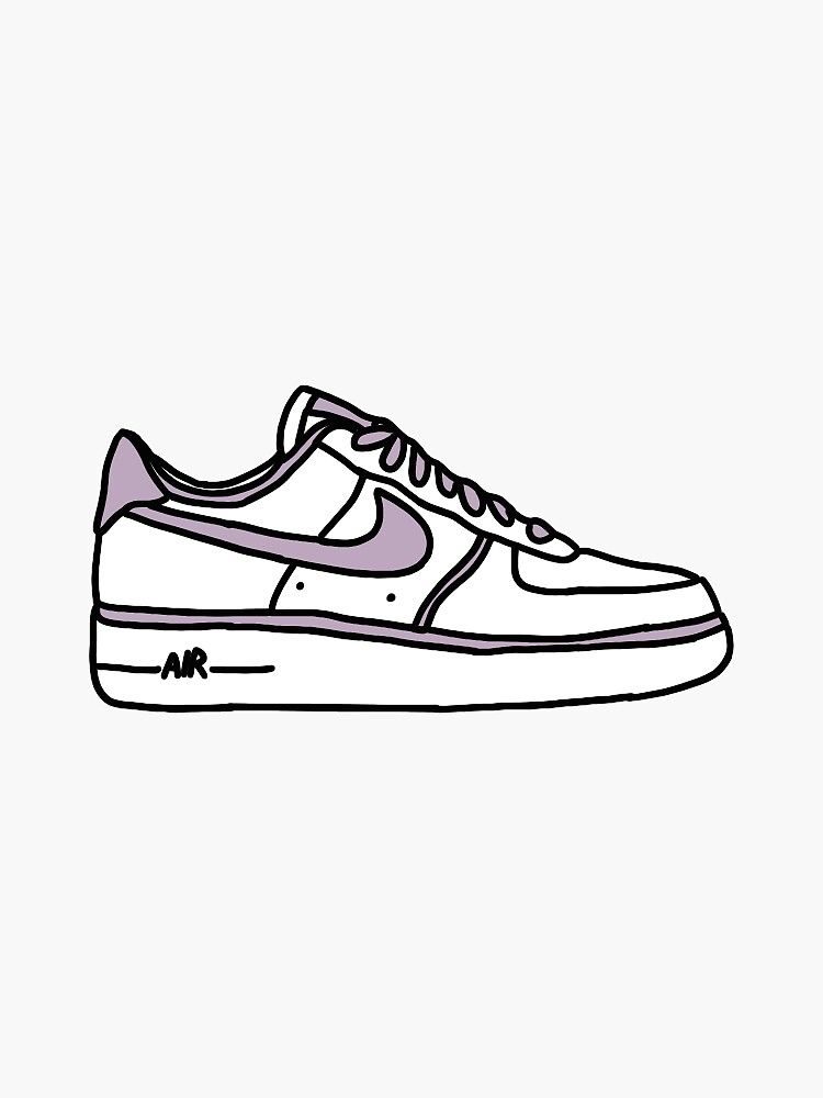 Airforce 1 Sticker by hannahpinkham in 2021 | Indie drawings ...