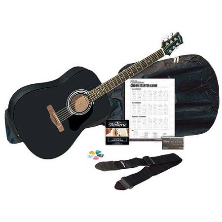 Silvertone SD3000 Acoustic Guitar Package, Black