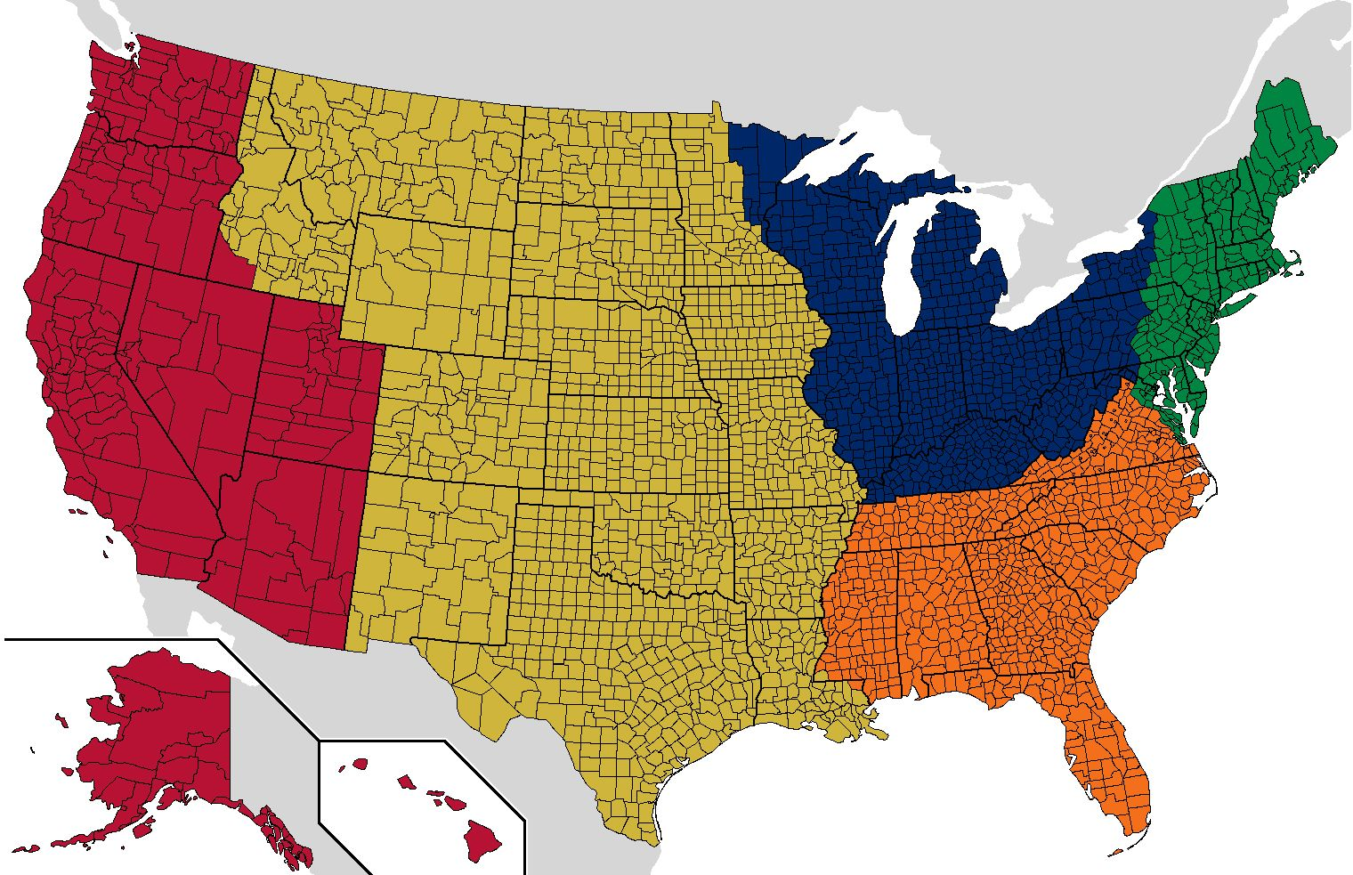 This Map Of Americas Regions Is Eyeopening Citizenship - Map of us and uk