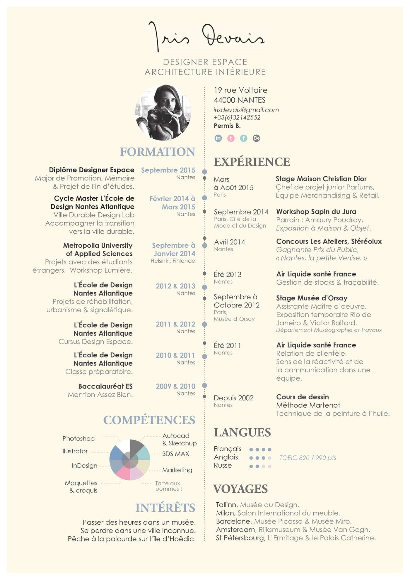 Here is my résumé! ) (avec images) Curriculum vitae