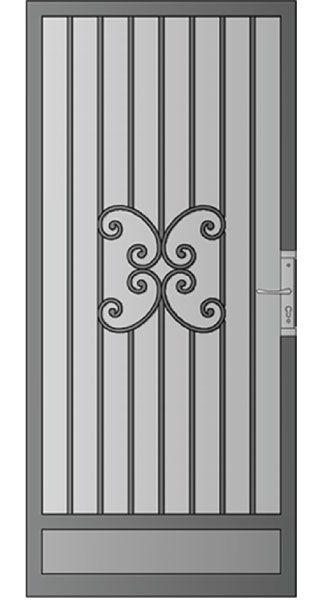 Security Screen Doors Great Gates And Whiting Iron In Phoenix Az The Valley S Leader In Premium Arc Puertas De Hierro Decoracion En Hierro Puertas De Metal