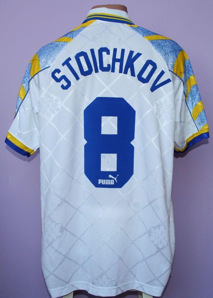 Hristo stoichkov # 8 ac parma 1995/1996 home shirt puma ...