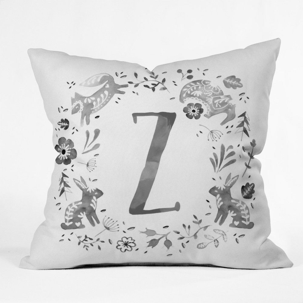 The Pillow Collection Ilaria Floral Teal Down Filled Throw Pillow