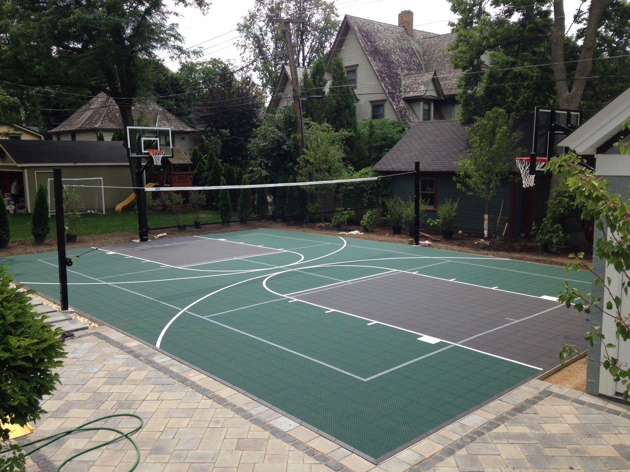 Beautiful Small Backyard Basketball Court Ideas