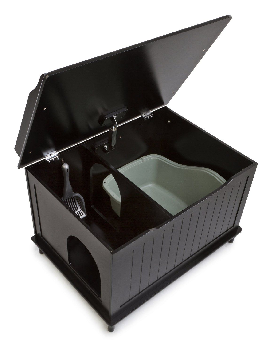 Designer catbox litter box enclosure in black pet supplies cat litterings - Modern kitty litter box ...