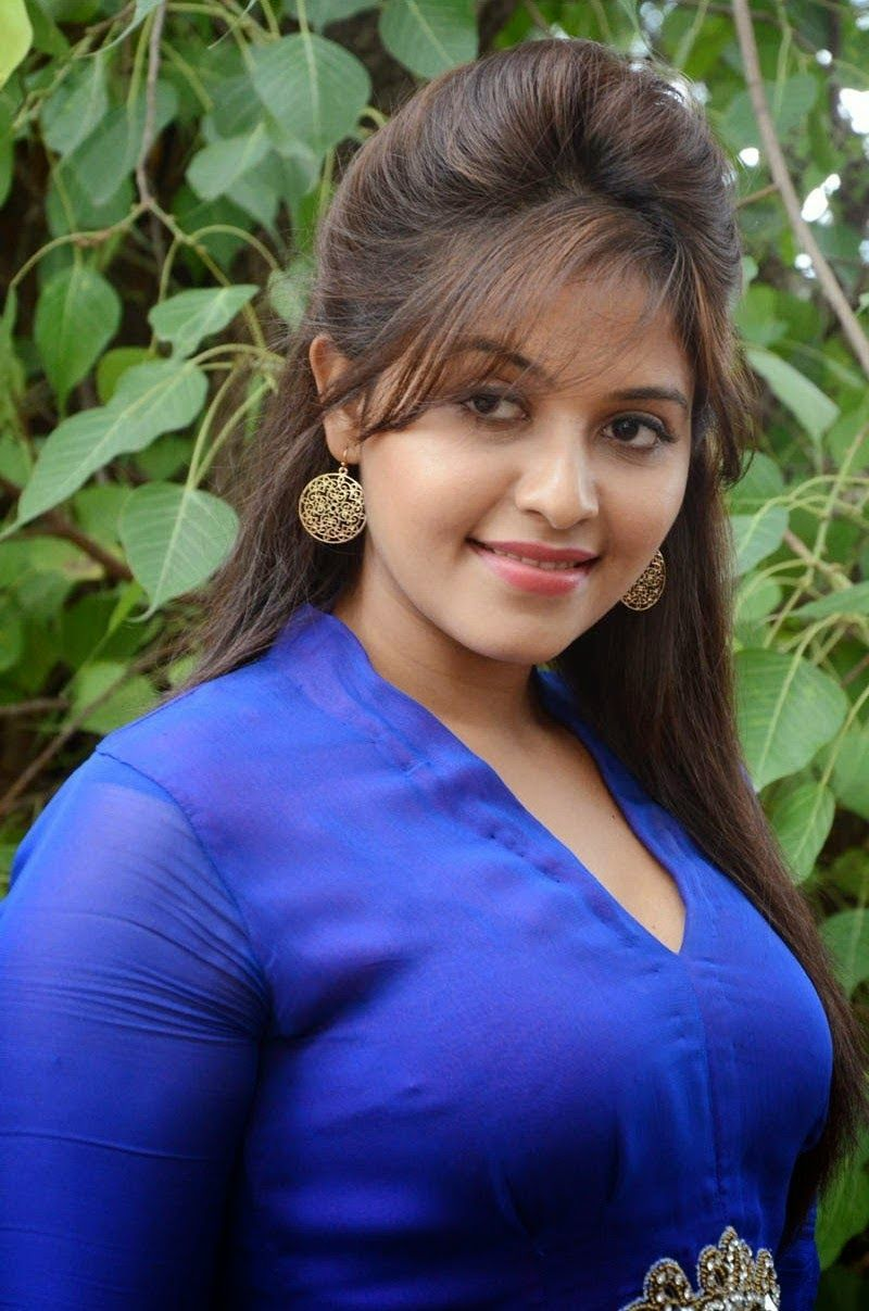 Telugu Actress Anjali Hot Romantic In Blue So Cute And Sexy -9099