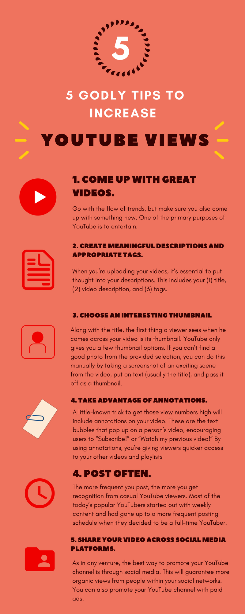 5 Godly Tips To Increase YouTube Views! #youtube