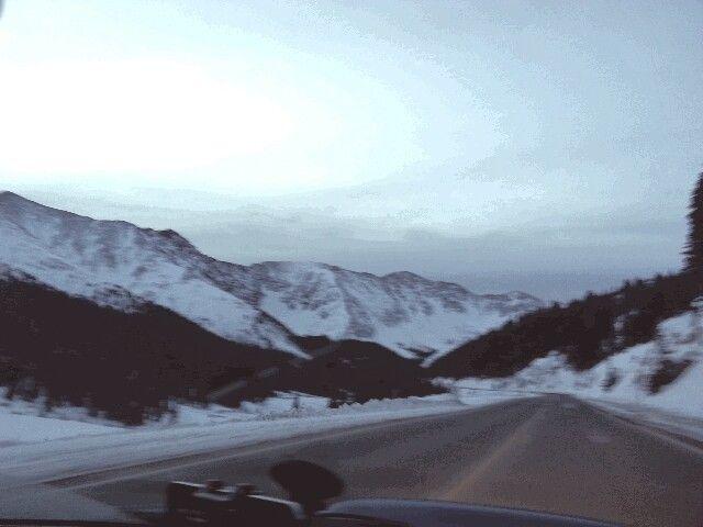 On the way to Keystone, Colorado