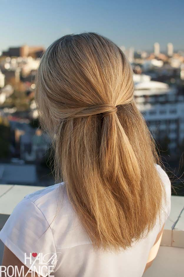41 Diy Cool Easy Hairstyles That Real People Can Do At Home Straight Hairstyles Medium Hair Styles Easy Hairstyles
