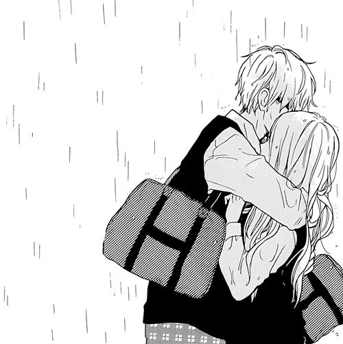 Cute little hug in the rain dont ya think