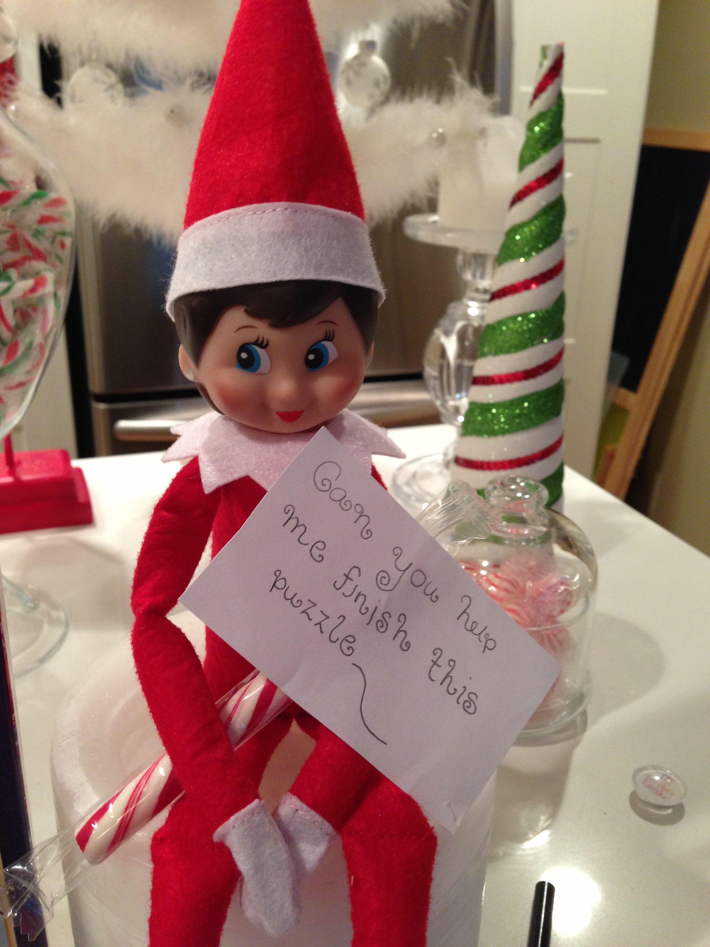 Puzzled Holiday decor, Decor, Elf on the shelf