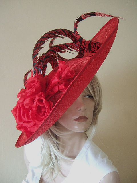 05db2d91 Large Red Ascot Hat Royal Ascot 2013 Hire | Mad Hatter | Hats, Ascot ...