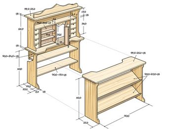 konstruktionszeichnung konstruktionszeichnung selbermachen werkstatt pinterest. Black Bedroom Furniture Sets. Home Design Ideas