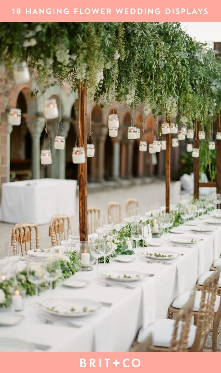 Get Wedding Decor Inspiration From These Hanging Flower Displays