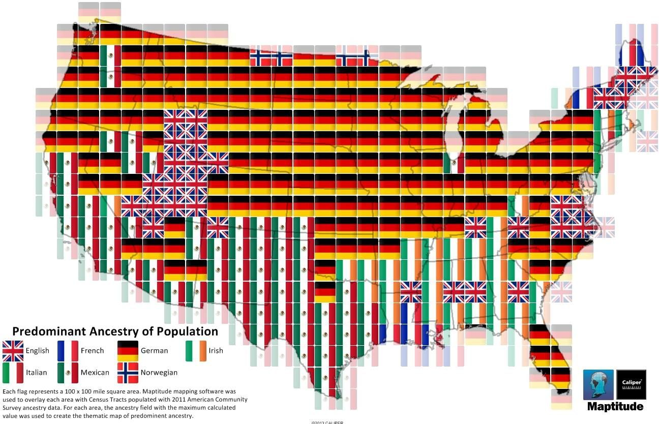 Predominant Ancestry Of Usa Population Maps Pinterest Ancestry - Us census ancestry map