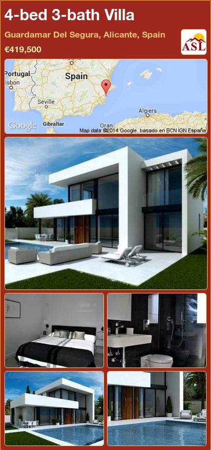 Villa For Sale In Guardamar Del Segura Alicante Spain With 4 Bedrooms 3 Bathrooms A Spanish Life Property Design Architecture Villa