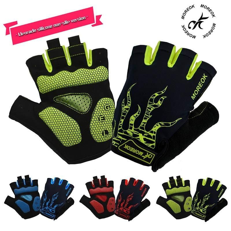 Cycling Gloves Half Finger MTB Mountain Bike Sport Mitts Breathable Reflective