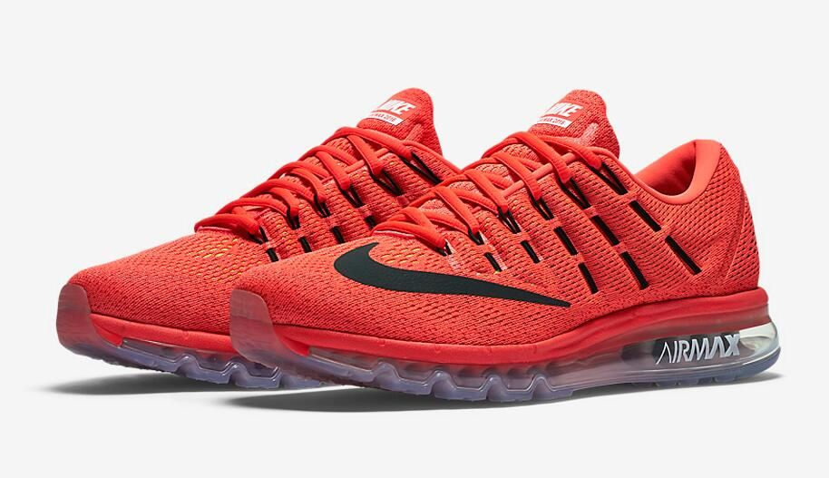 Nike Air Max 2016 Color Bright Crimson Black-University Red Style Code  806771-600 Release Date November 19 6ef7594fc2