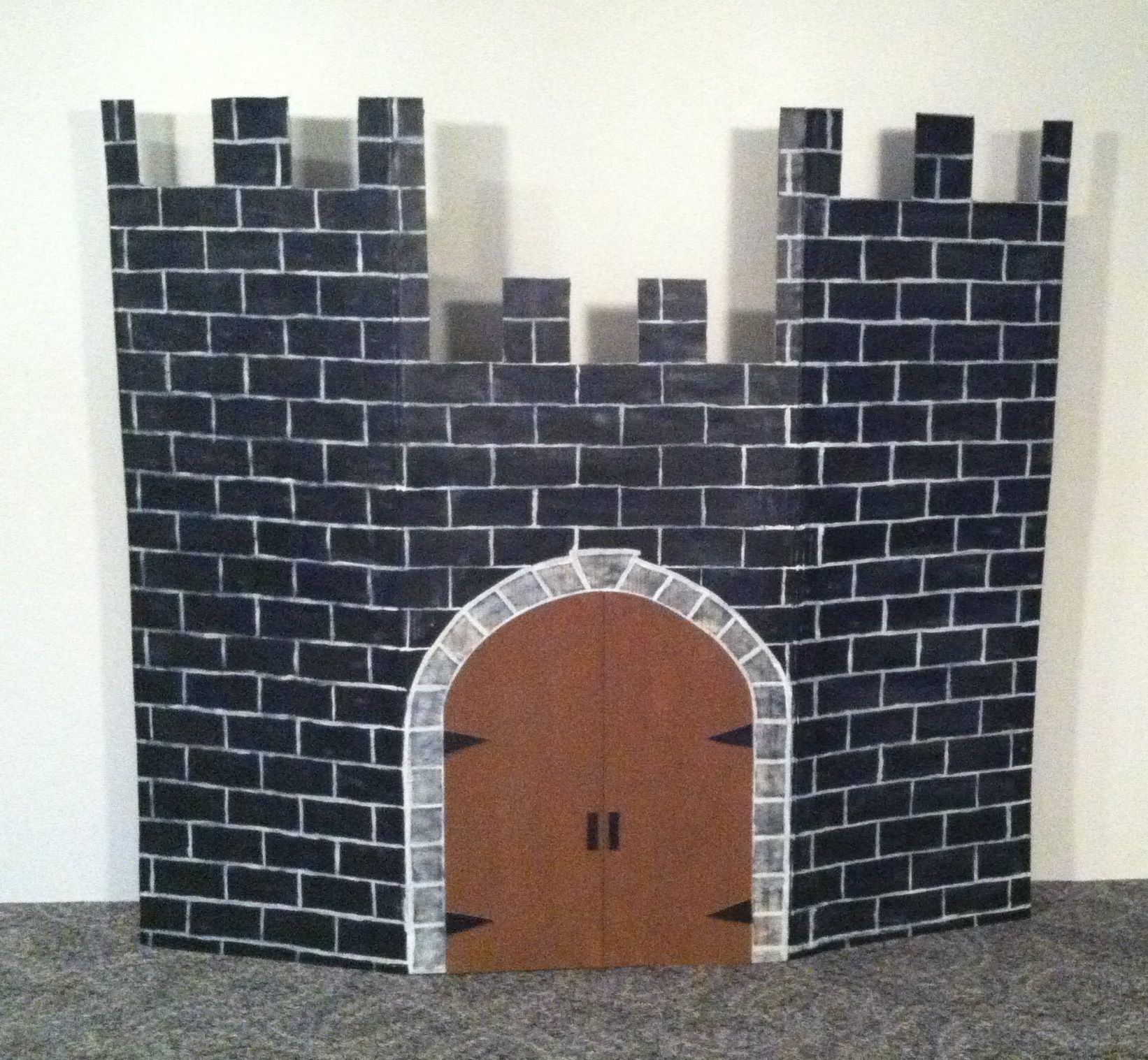 5 u0027x6 u0027 cardboard castle backdrop library prop 2014 church and