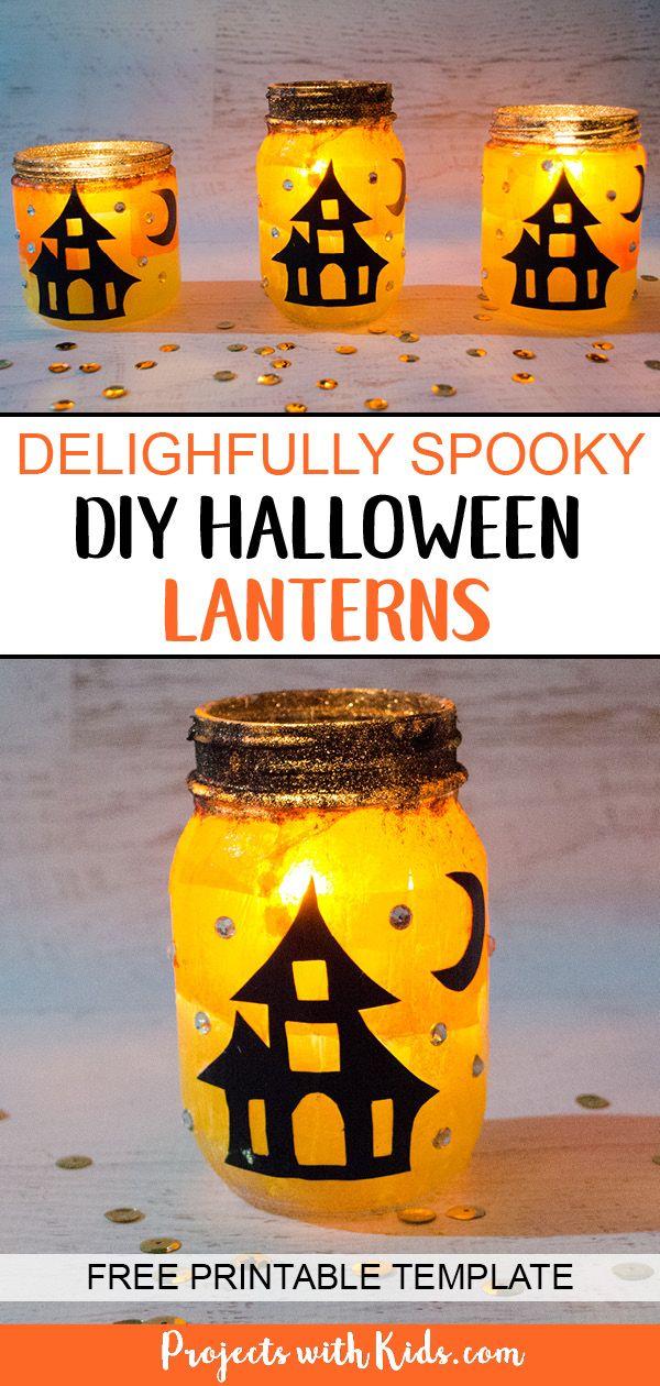 Delightfully Spooky DIY Halloween Lanterns Halloween Pinterest - cute easy halloween decorations