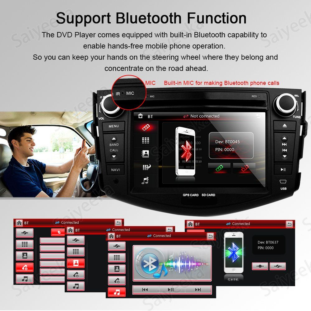 7 Inch In Dash HD Touch Screen Car DVD Player GPS