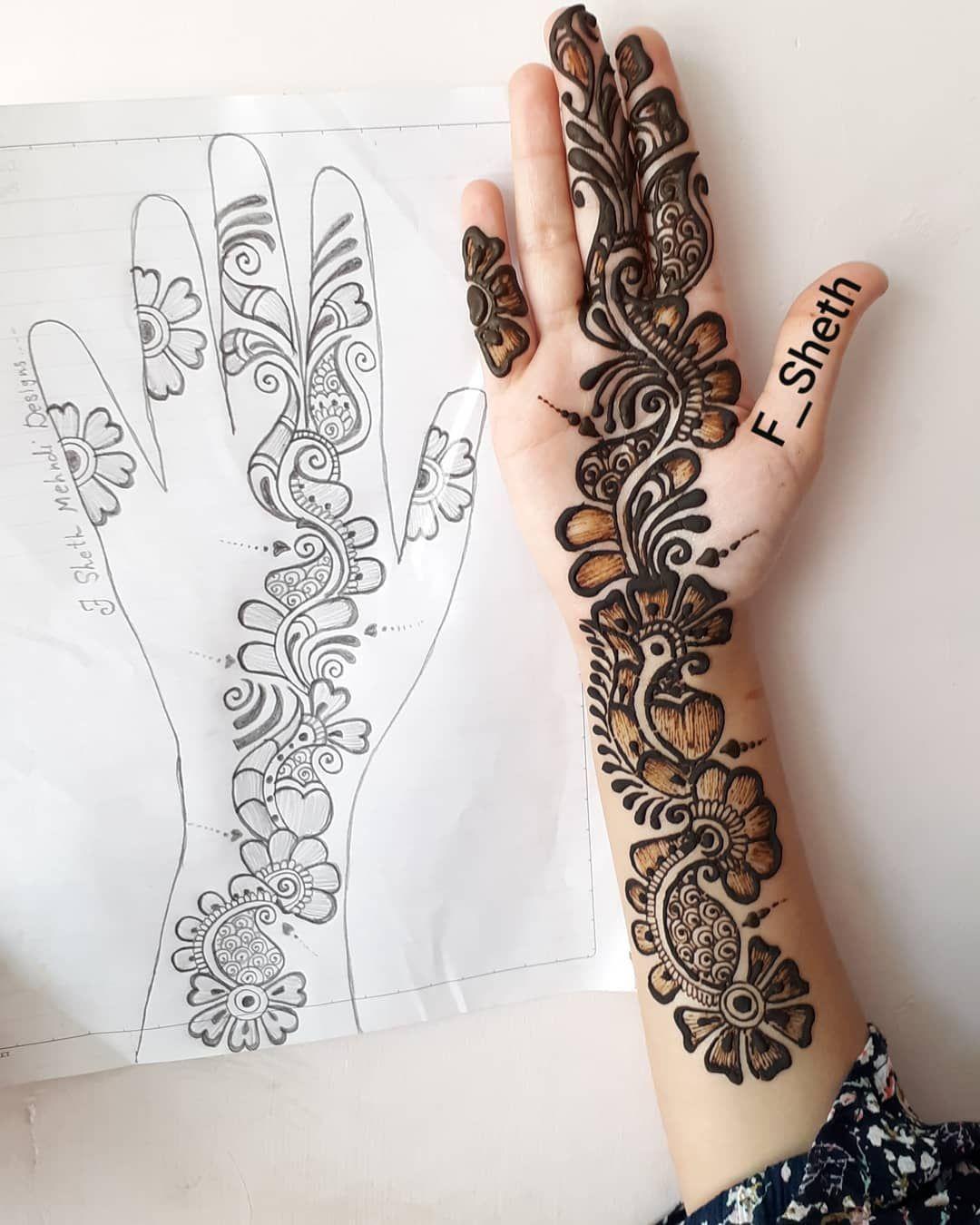 Latest Arabic Mehndi Design for Front Hand K4 Fashion in