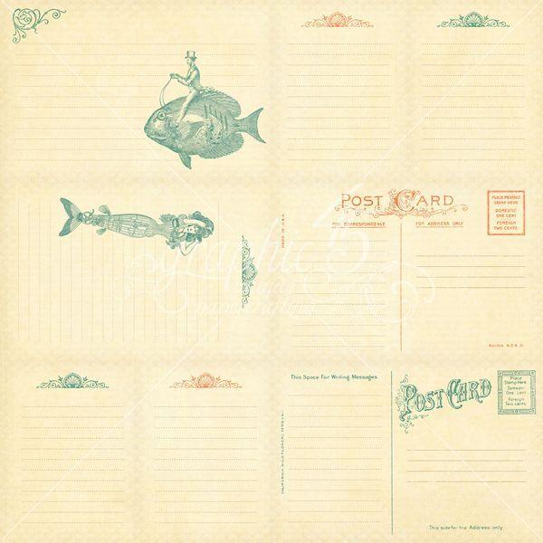 Voyage Beneath the Sea Horizontal Journaling & Ephemera cards - Back #sneakpeeks #graphic45