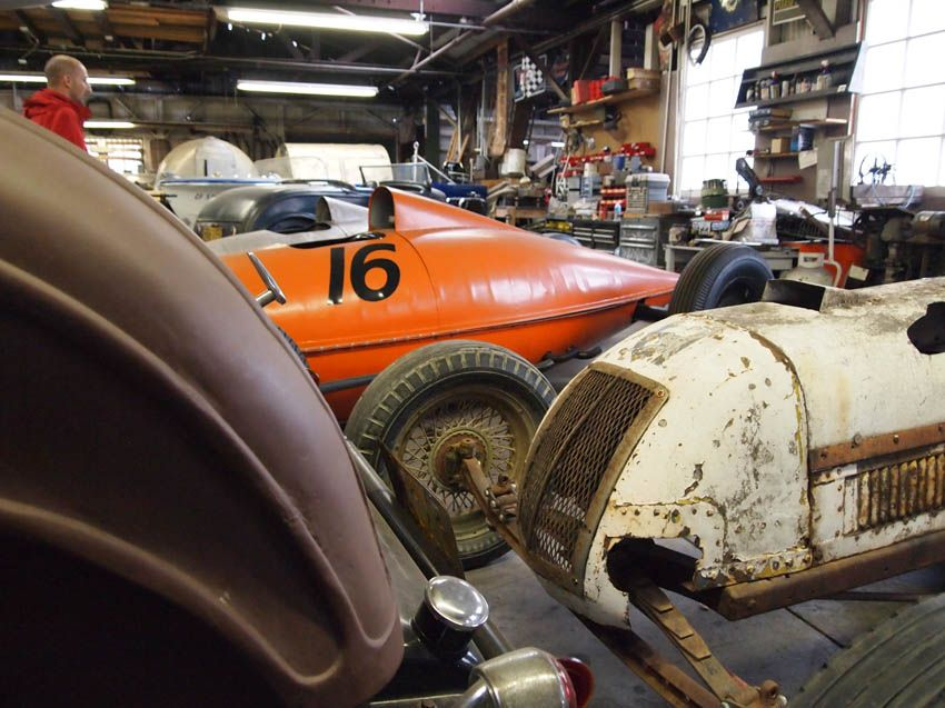 Belly Tankers Vintage Indy Cars And A Barn Find Roadster The Old Crow