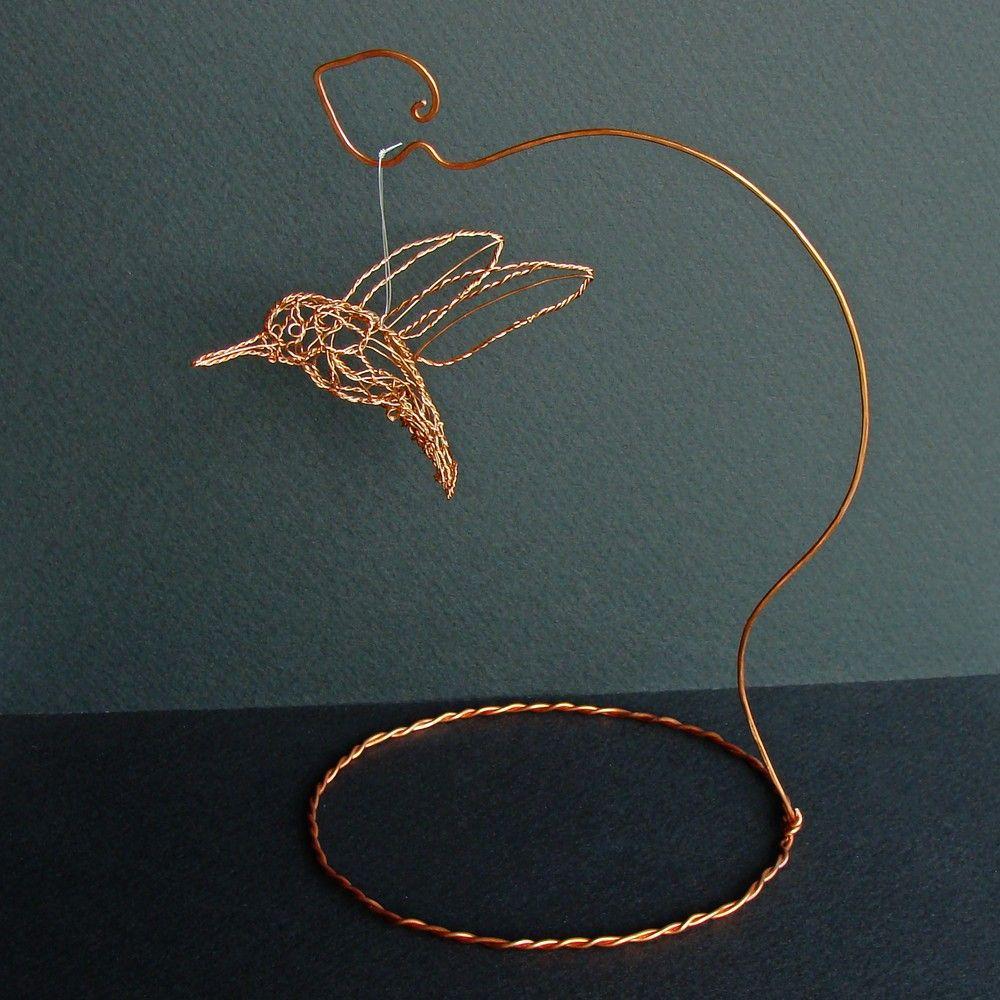 Copper Hummingbird Wire Sculpture. $75.00, via Etsy. | Birdies ...