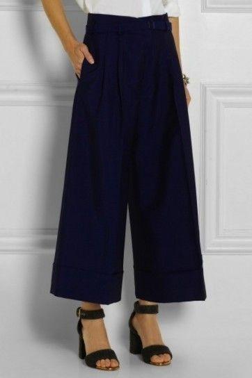d643edd0d5 Tendencias Invierno 2015 pantalones anchos cortos  fotos de los modelos