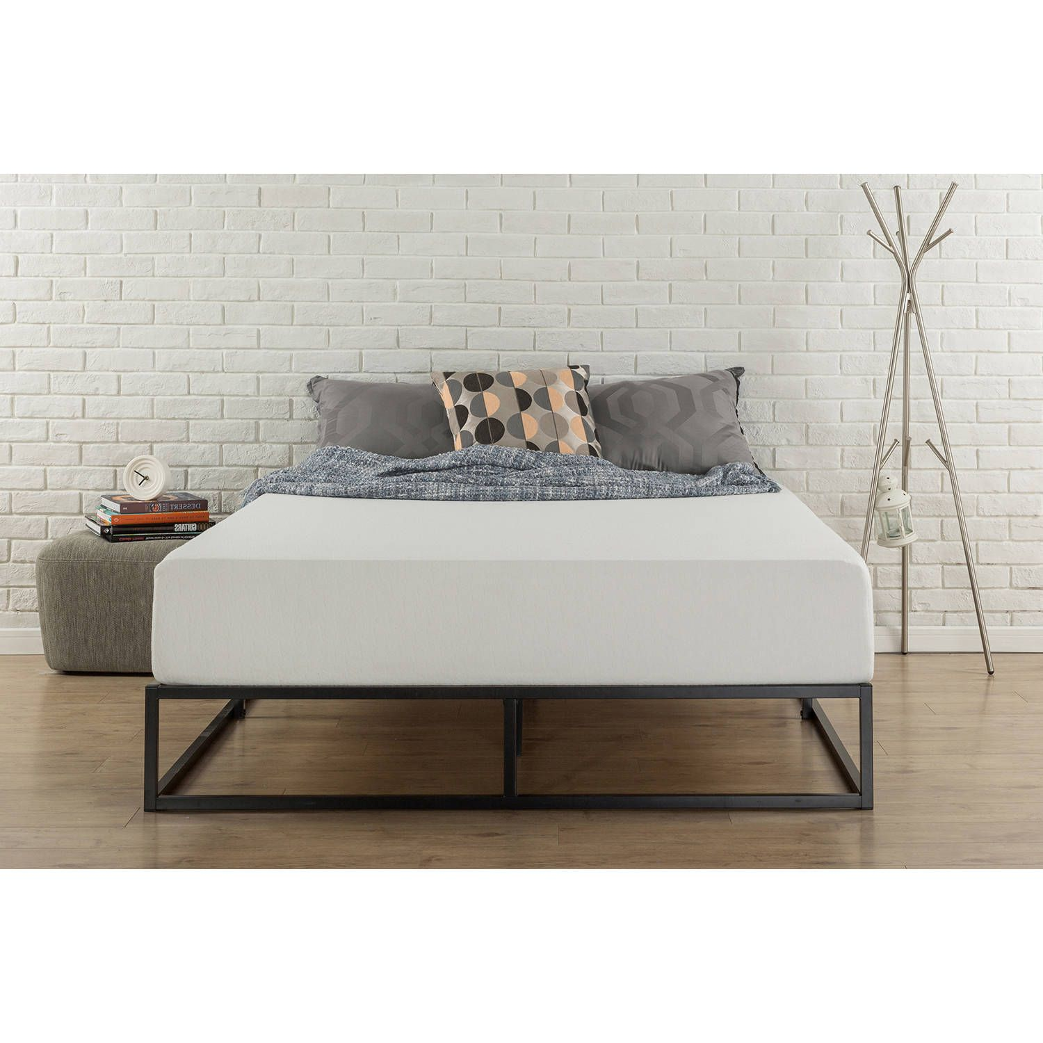 Zinus Joseph Modern Studio 10 Platforma Low Profile Bed Frame Twin Walmart Com Low Profile Bed Frame Bed Frame Zinus