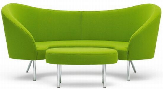 Lime Green Leather Sofa