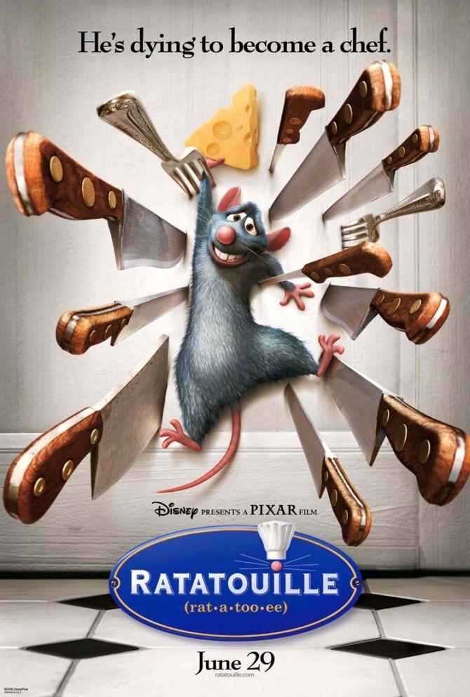Ratatouille -  One of Pixar's best.  (9/10)