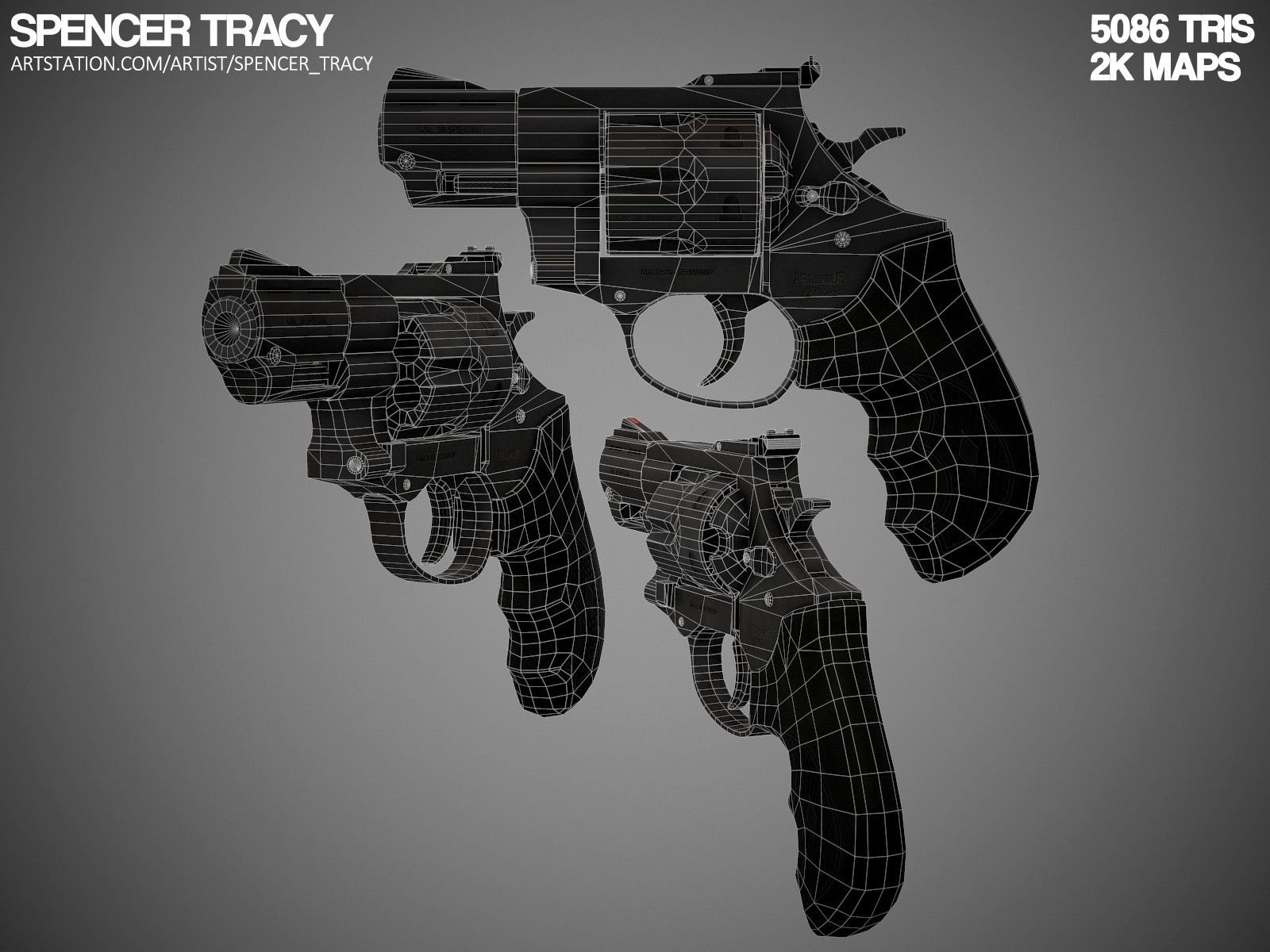 ArtStation - .38 Revolver, Spencer Tracy
